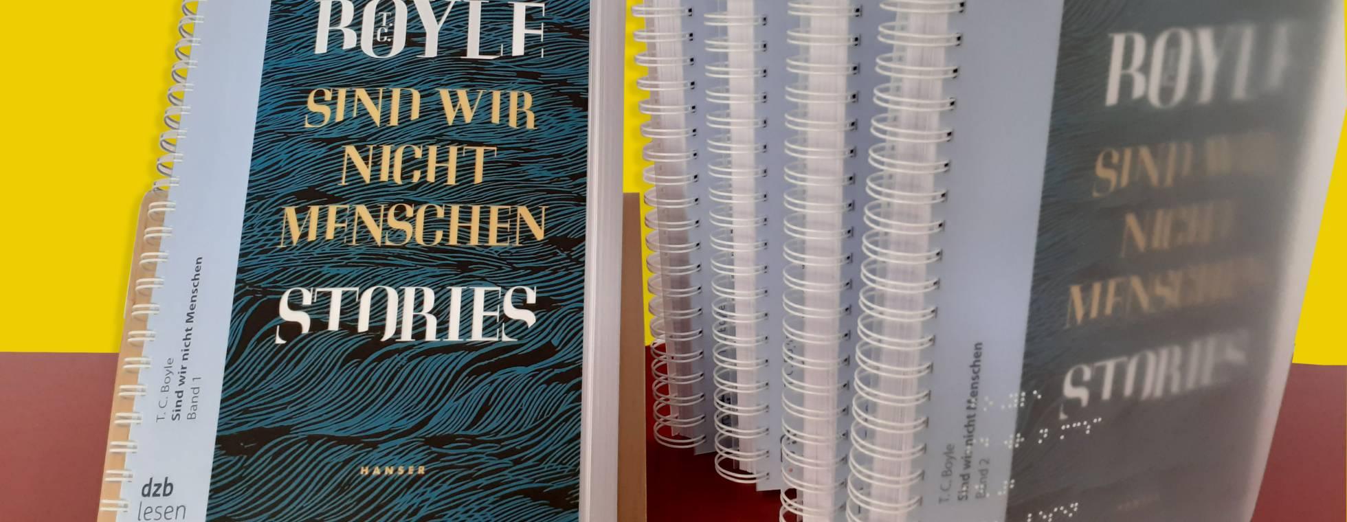 5-bändiges Braillebuch von T. C. Boyle